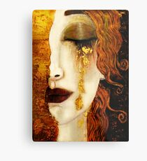 Klimt Golden Tears Metal Print