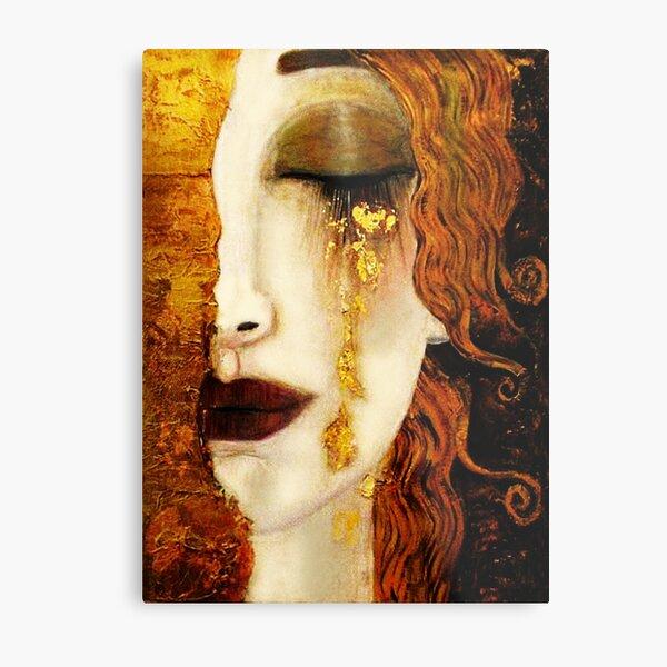Klimt Golden Tears Metal Print