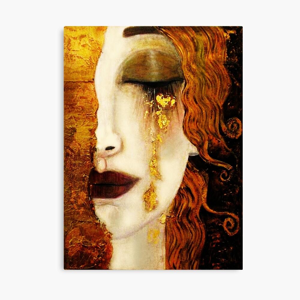 Klimt Golden Tears Canvas Print