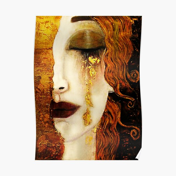 Klimt Larmes D'or Poster