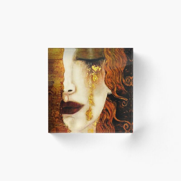 Klimt Golden Tears Acrylic Block