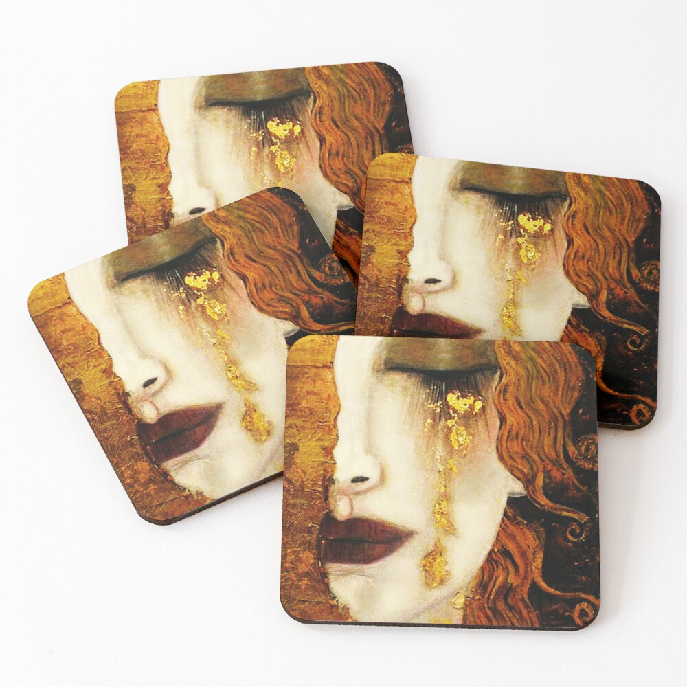 Klimt Golden Tears Coasters (Set of 4)