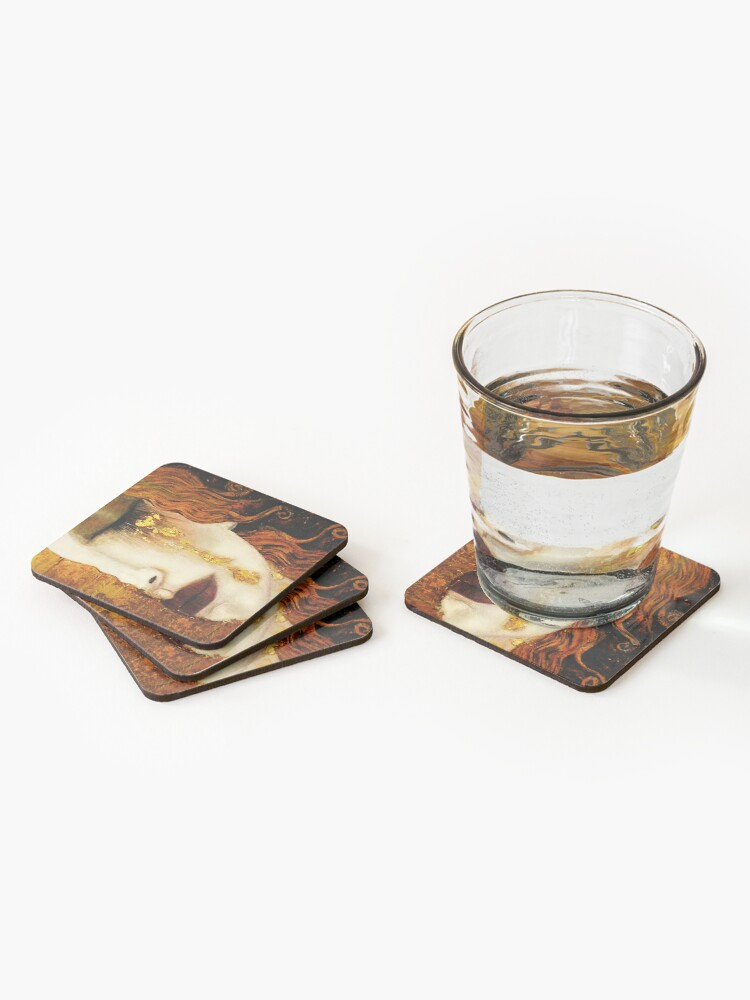 Alternate view of Klimt Golden Tears Coasters (Set of 4)