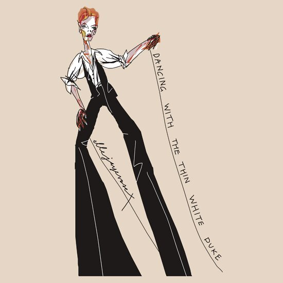 """TShirtGifter presents: """"Dancing with the Thin White Duke"""""""