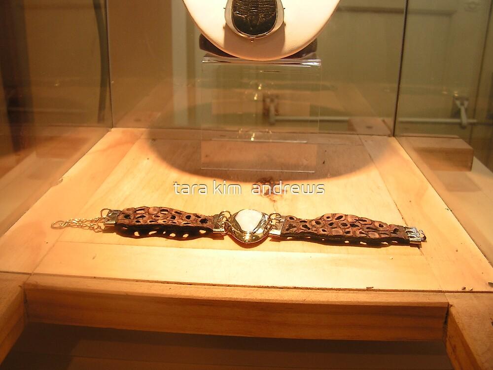 opal and croc bracelet by tara kim  andrews