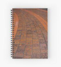 Brick Footpath, Melbourne Spiral Notebook