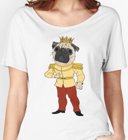 The Pug Prince Women's Relaxed Fit T-Shirt