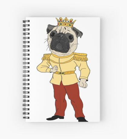 The Pug Prince Spiral Notebook