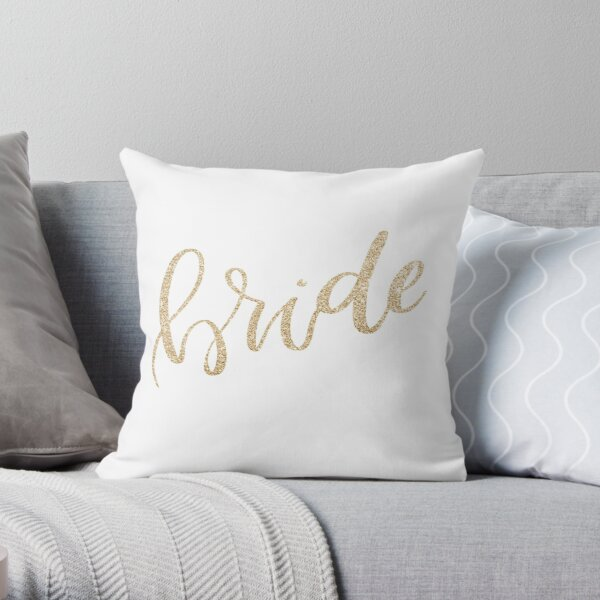 Bride by Alice Monber Throw Pillow