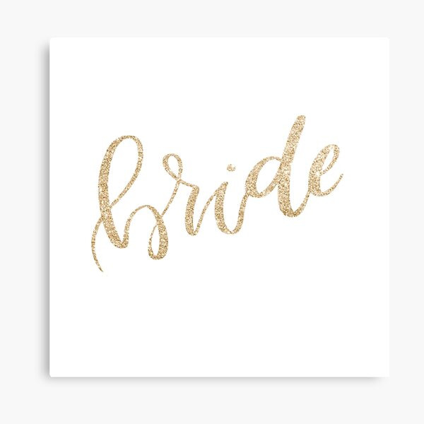 Bride by Alice Monber Canvas Print