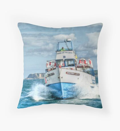 Look out - we're coming through! Throw Pillow