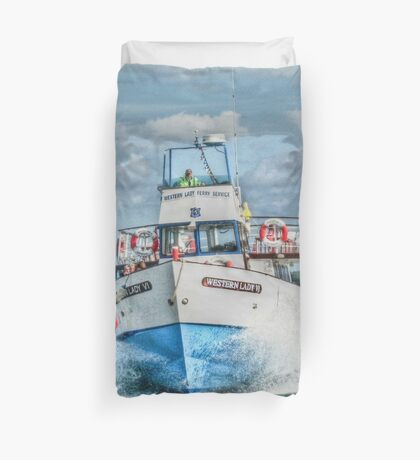 Look out - we're coming through! Duvet Cover