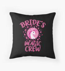 Team Bride Unicorn Crew Bachelorette Party Funny Throw Pillow