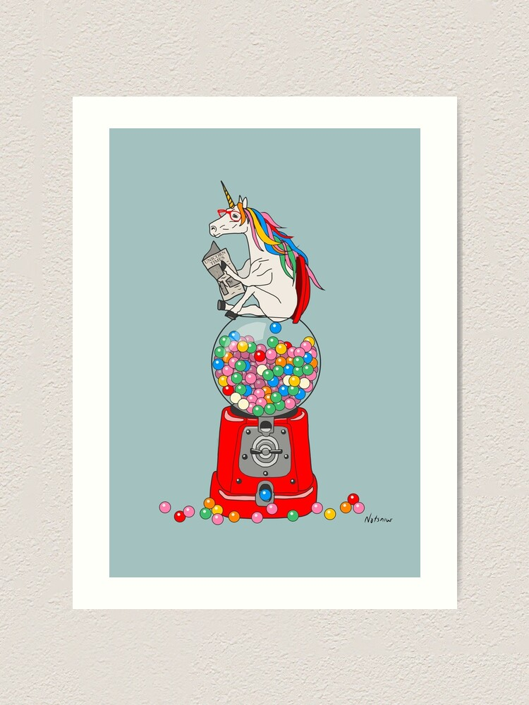 Alternate view of Unicorn Gumball Poop Art Print