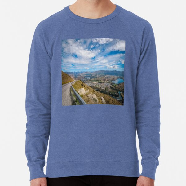 Spectacular Mountain Range from The Remarkable access road Lightweight Sweatshirt