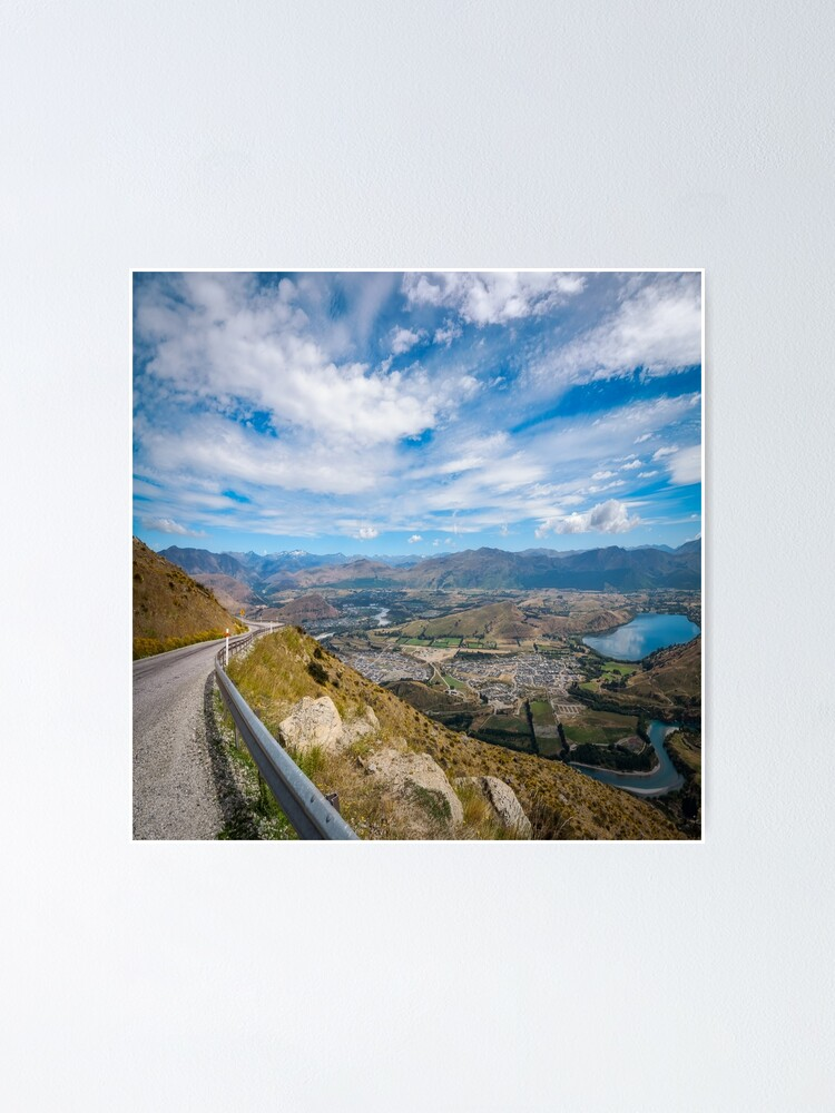 Alternate view of Spectacular Mountain Range from The Remarkable access road Poster