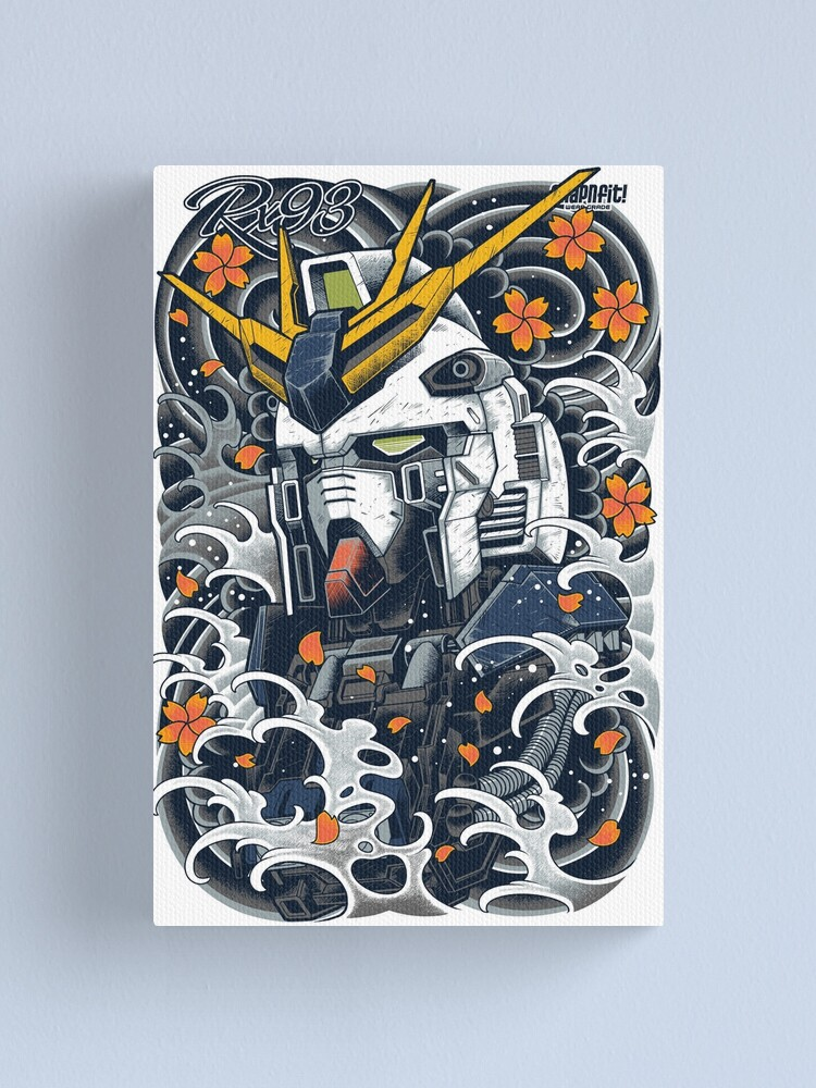 Alternate view of Nu Gundam Awesome Canvas Print