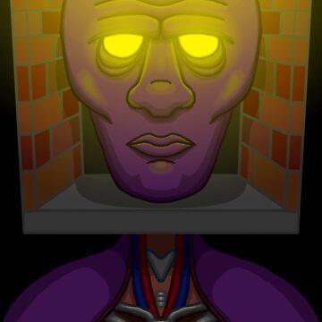 Giant Purple Head Dream Apparition by EverhartArt