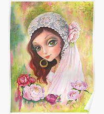 Gypsy bride. Watercolor Poster