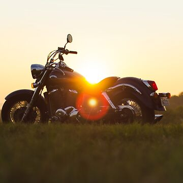Motorbike in the sunset by koovox