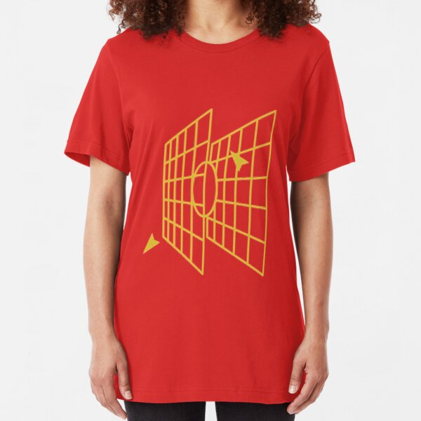 Millennium-falcon Targeting Computer Apparel Slim Fit T-Shirt