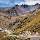 The top portion of the road from Queenstown to The Remarkable Ski Area by Danielasphotos