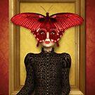 Schmetterlingsportrait aus dem Rahmen von Britta Glodde