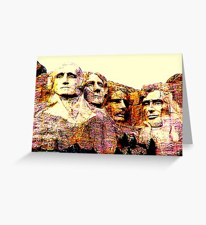 Carved In Stone Greeting Card
