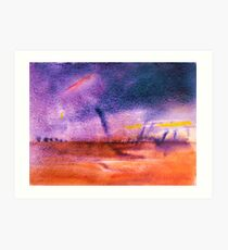 Storm... Outback  Queensland , with Twisters  Art Print