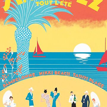 St. Tropez Classic Vintage Travel Poster by gshapley