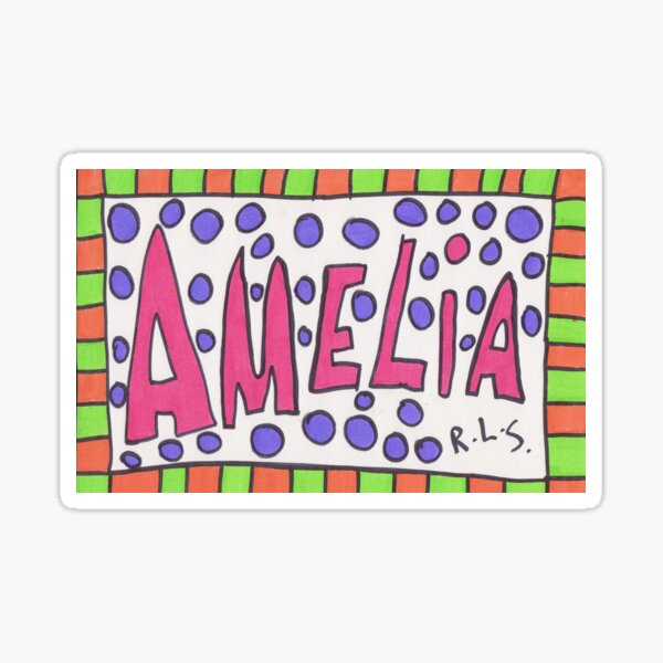 Name plate - Amelia Sticker