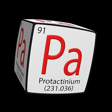Formula tile Pa. Protactinium 231. Cubed. by stuwdamdorp