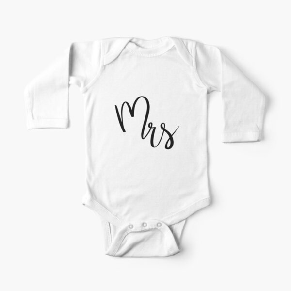 Mrs by Alice Monber Long Sleeve Baby One-Piece