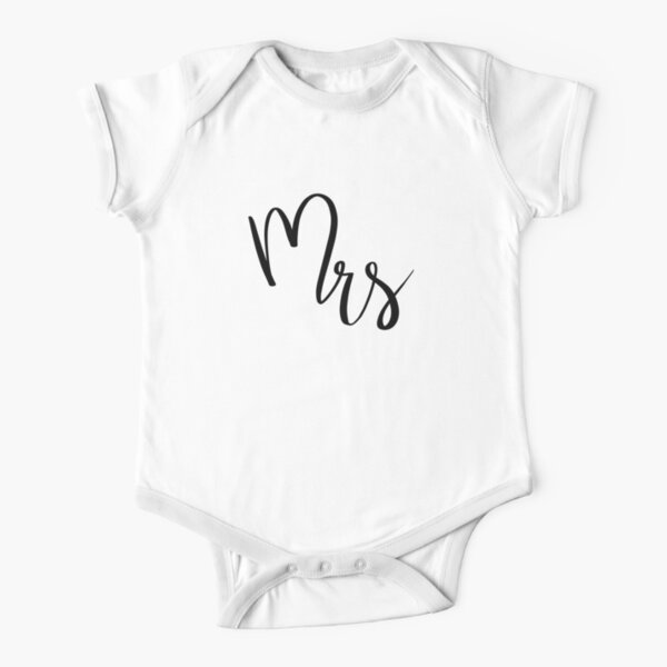 Mrs by Alice Monber Short Sleeve Baby One-Piece