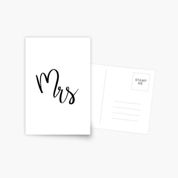 Mrs by Alice Monber Postcard