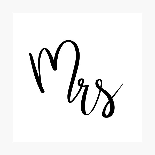 Mrs by Alice Monber Photographic Print