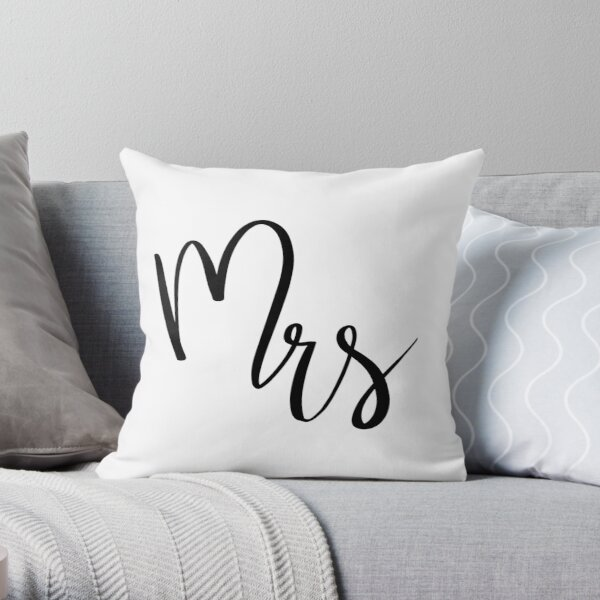 Mrs by Alice Monber Throw Pillow