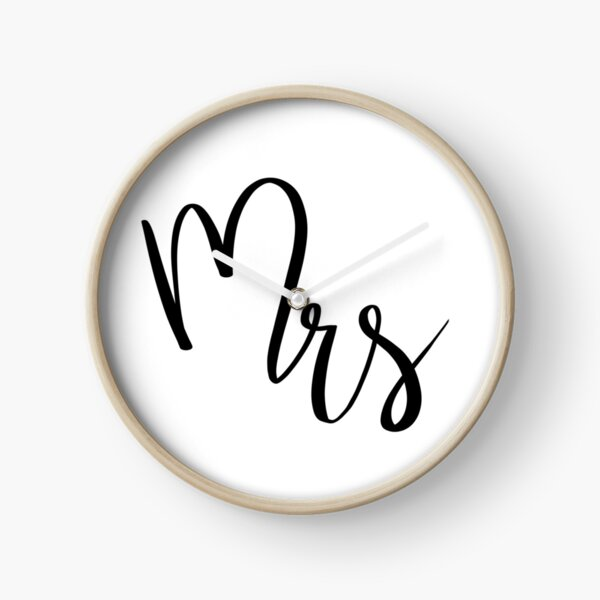 Mrs by Alice Monber Clock