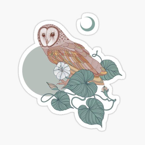 Owl under the Moon Sticker