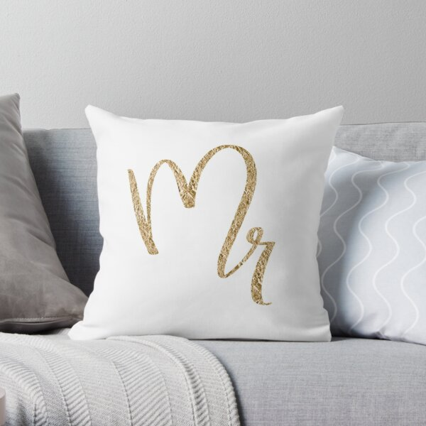 Mr. by Alice Monber Throw Pillow