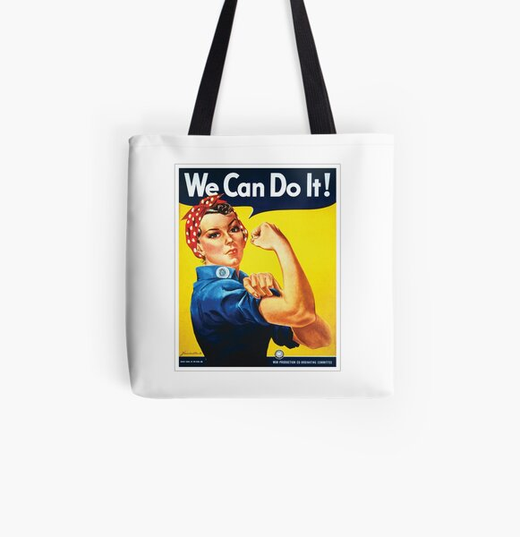 Rosie the Riveter classic wartime image All Over Print Tote Bag
