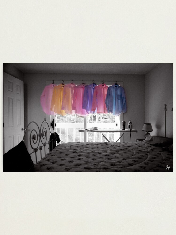 Alternate view of Ironing Adds Color to a Room Photographic Print