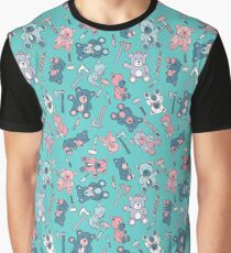 teddy bears and viking weapons - light blue Graphic T-Shirt