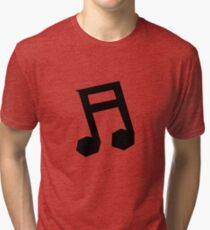 Musical Note Polygonal Design Tri-blend T-Shirt