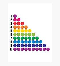 Number BRIGHTS! 1, 2, 3... Photographic Print