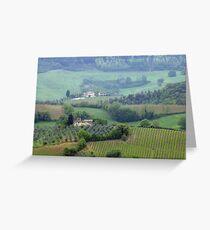Misty Morning, Tuscany Greeting Card