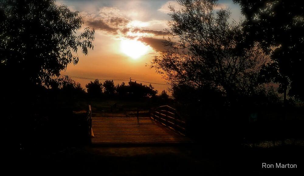 Little Bridge At The Kum by Ron Marton