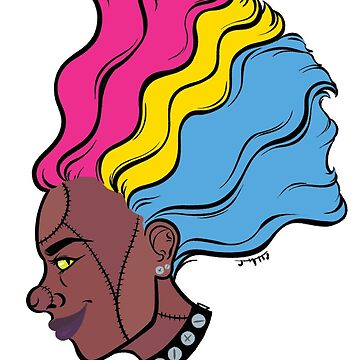 PRIDE MONSTERS- Frankenstein, Pansexual Pride Flag by JMTolman