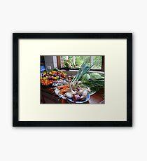 A Country Harvest. Framed Print