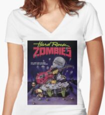 HARD ROCK ZOMBIES Women's Fitted V-Neck T-Shirt